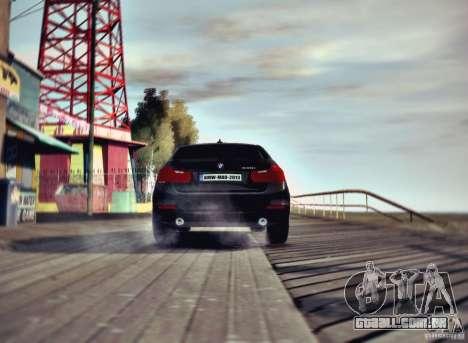 BMW 335i Coupe para GTA 4 vista de volta