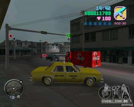 Ford Crown Victoria LTD 1985 Taxi para GTA Vice City deixou vista