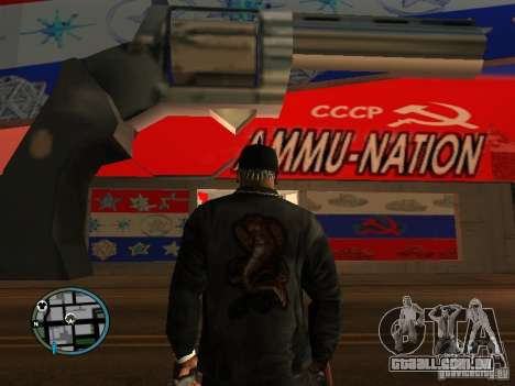 Russian Ammu-nation para GTA San Andreas por diante tela