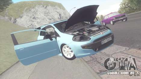 Fiat Punto para GTA San Andreas traseira esquerda vista