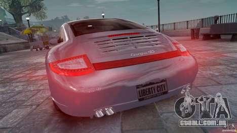 Porsche Targa 4S 2009 para GTA 4 traseira esquerda vista