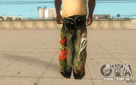 Hip-hop jeans para GTA San Andreas terceira tela