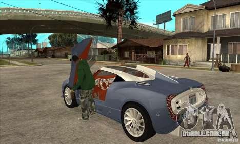 Spyker C12 Zagato para GTA San Andreas traseira esquerda vista