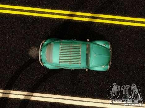 Volkswagen Beetle 1300 para GTA San Andreas vista interior