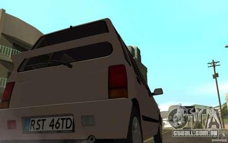 Daewoo Tico SX para GTA San Andreas traseira esquerda vista