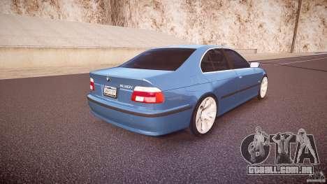 BMW 530I E39 e63 white wheels para GTA 4 vista superior