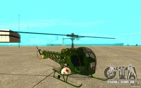 Bell H13 para GTA San Andreas esquerda vista