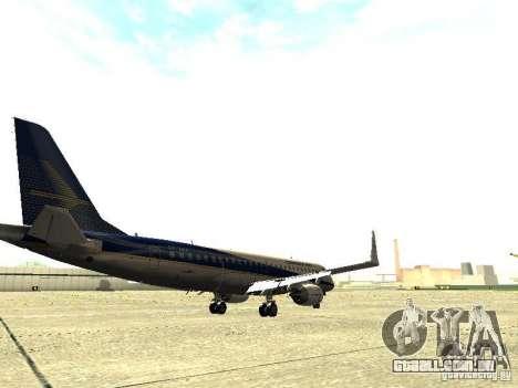 Embraer E-190 para GTA San Andreas vista direita