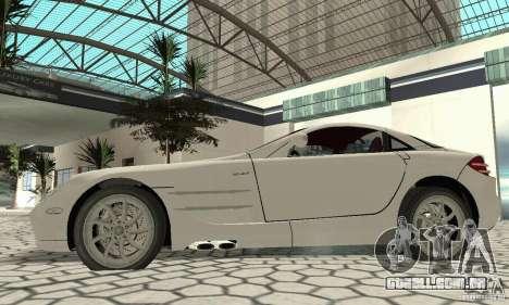 Mercedes-Benz McLaren V2.3 para GTA San Andreas vista direita