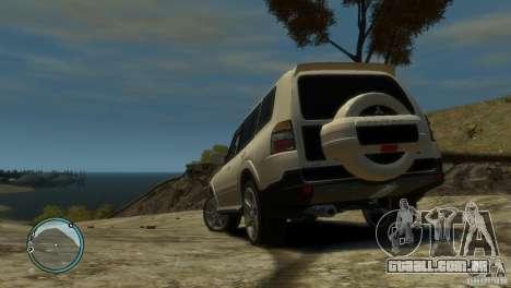 Mitsubishi Pajero Wagon para GTA 4 traseira esquerda vista