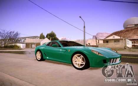 Ferrari 599 GTB Fiorano 2010 para GTA San Andreas esquerda vista