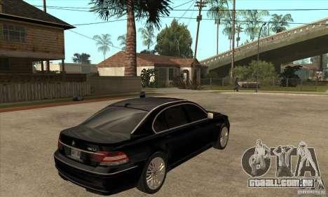 BMW 760Li (e66) SE para GTA San Andreas vista direita