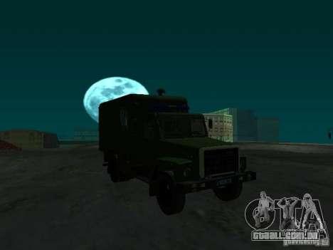 GAZ 3309 camburão para GTA San Andreas vista traseira