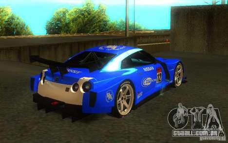 Nissan Skyline R35 GTR para GTA San Andreas esquerda vista