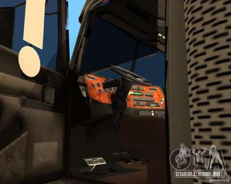 Western Star 4900EX v 0.1 para GTA San Andreas vista direita