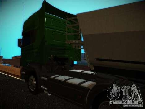 Scania R580 para GTA San Andreas traseira esquerda vista