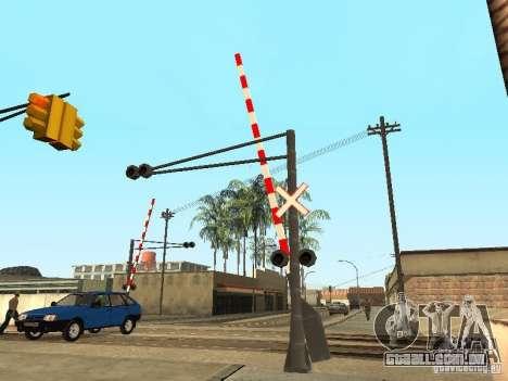 FERROVIÁRIA atravessando RUS para GTA San Andreas terceira tela