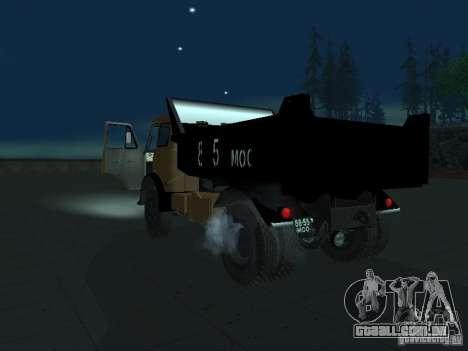 Caminhão de descarga MAZ 503a para GTA San Andreas esquerda vista