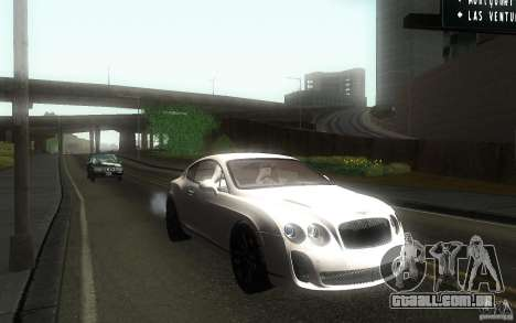 Bentley Continental SS para GTA San Andreas vista traseira