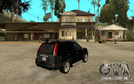 Nissan X-Trail 2001-2007 para GTA San Andreas vista direita