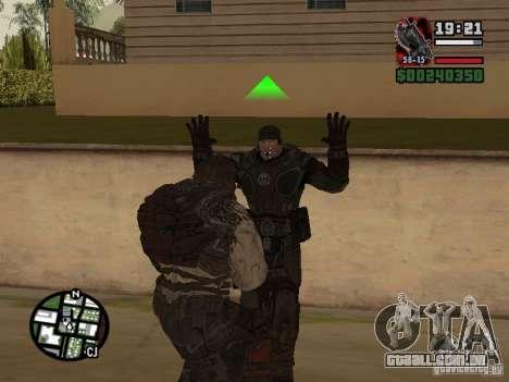 Lokast grunhido de Gears of War 2 para GTA San Andreas por diante tela