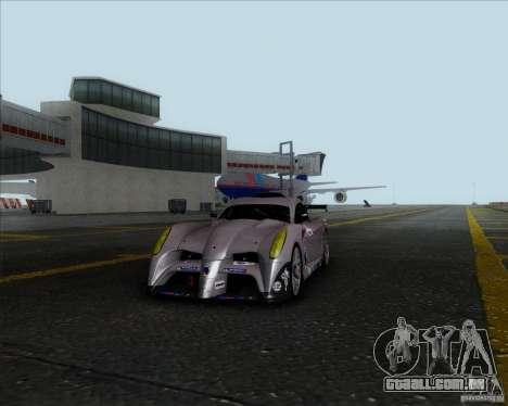 Panoz Abruzzi Le Mans V1.0 2011 para GTA San Andreas traseira esquerda vista