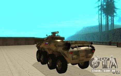BTR-90 para GTA San Andreas traseira esquerda vista