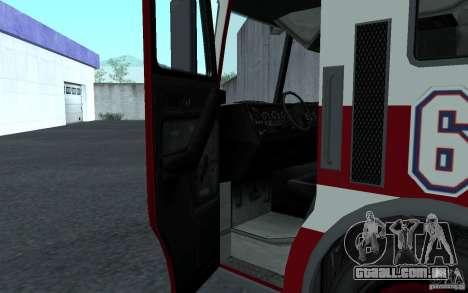 FIRETRUCK para GTA San Andreas esquerda vista