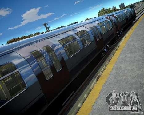 Trem de Londres para GTA 4 por diante tela