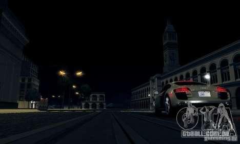 Audi R8 5.2 FSI Quattro para GTA San Andreas traseira esquerda vista