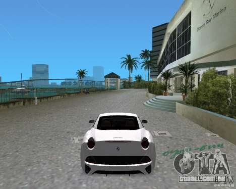 Ferrari California para GTA Vice City deixou vista