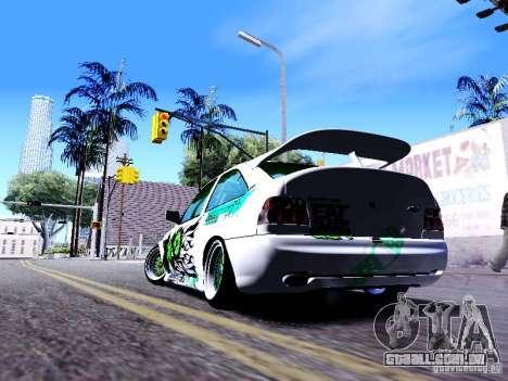 Ford Escort RS 92 Hella para GTA San Andreas traseira esquerda vista
