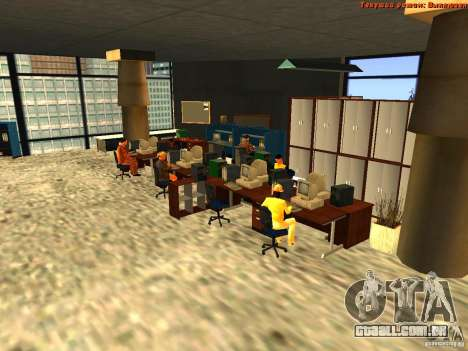 20th floor Mod V2 (Real Office) para GTA San Andreas por diante tela