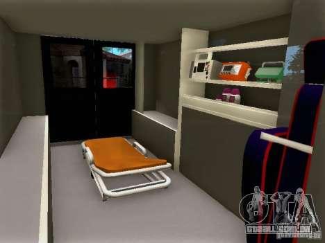 Ford E-350 Ambulance v2.0 para GTA San Andreas vista direita