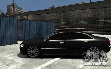 Audi A8L W12 Quattro para GTA 4 esquerda vista