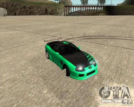 Toyota Supra ZIP style para GTA San Andreas vista inferior