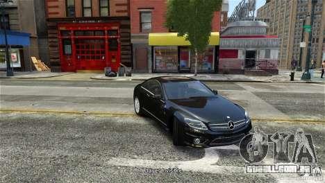 Mercedes-Benz CL65 AMG v1.5 para GTA 4 traseira esquerda vista