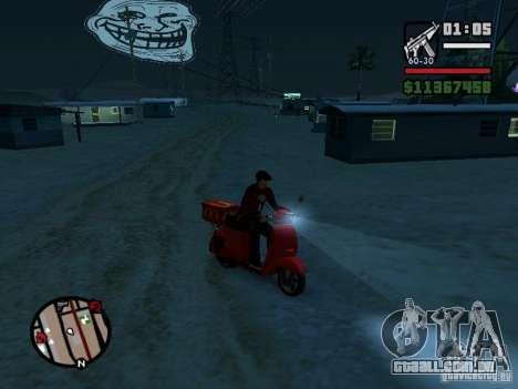 Trollface Moon para GTA San Andreas terceira tela