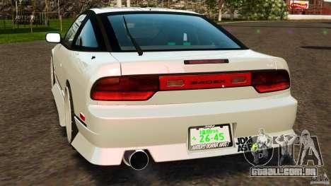 Nissan 240SX facelift Silvia S15 [RIV] para GTA 4 traseira esquerda vista
