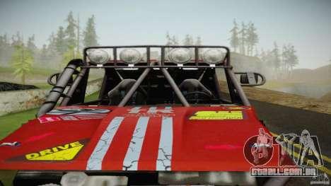 Buggy Off Road 4X4 para GTA San Andreas traseira esquerda vista