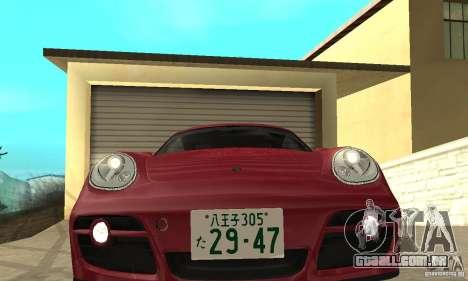 Porsche Cayman S para GTA San Andreas vista traseira