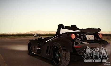 KTM-X-Bow para GTA San Andreas vista superior
