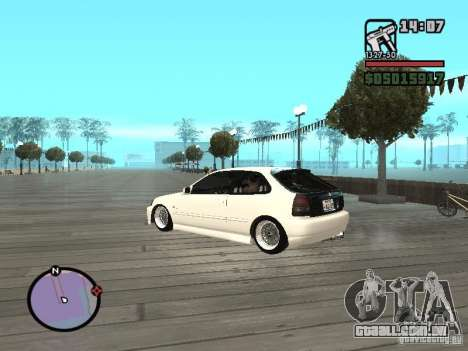Honda Civic EK9 JDM para GTA San Andreas esquerda vista