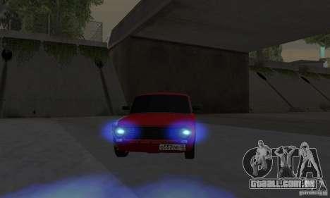 VAZ 2101 Restyling para GTA San Andreas traseira esquerda vista