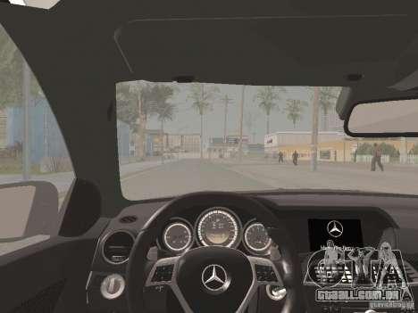 Mercedes-Benz C63 AMG Coupe Black Series para GTA San Andreas vista superior