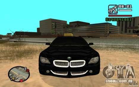 BMW M6 2006 para GTA San Andreas esquerda vista