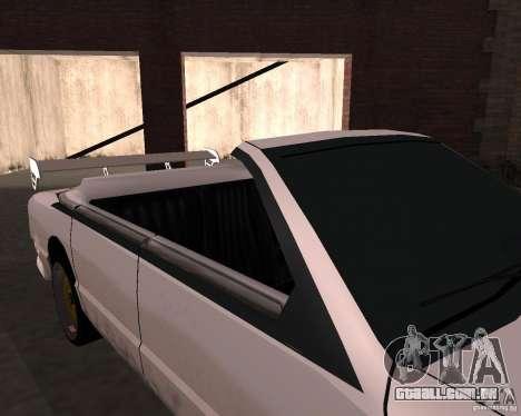 Taxi Cabrio para GTA San Andreas vista interior