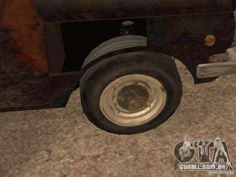ZAZ-968 abandonado para GTA San Andreas vista traseira