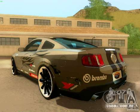 Ford Mustang Boss 302 2011 para GTA San Andreas vista inferior