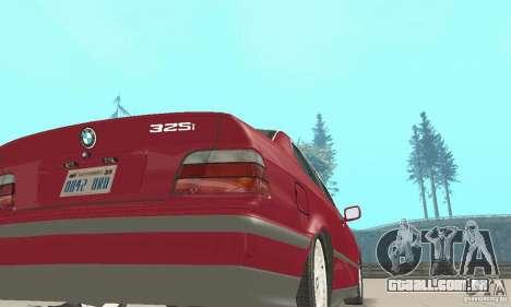 BMW 325i Coupe para GTA San Andreas vista traseira